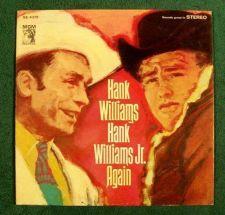 """Buy HANK WILLIAMS & HANK WILLIAMS, JR. ~ """" Again """" Country LP"""