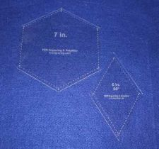 Buy Quilt Templates-2 Piece Specialty- Hexagon/Diamond Set -1/8""