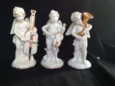 Buy Antique German Porcelain. Trio of musicians with old marks