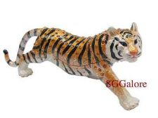 Buy Collectible RUCINNI Swarovski Crystals BeJeweled TIGER Trinket BOX Wild Cats