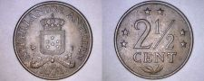 Buy 1971 Netherlands Antilles 2-1/2 Cent World Coin