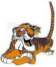 Buy Jungle Book Shere Khan tiger full body lying down tail in air pin/pins