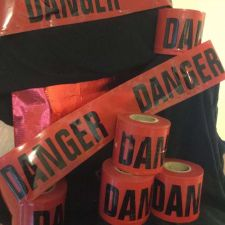 "Buy RED ""DANGER"" FLAGGING Tape 200 foot roll -FAST FREE Shipping USA Seller"