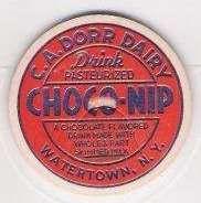 Buy New York Watertown Milk Bottle Cap Name/Subject: C.A. Dorr Dairy Choco-Nip~67