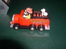 Buy Fire Engine 71 Mickey Mouse with Dalmatian dog Walt Disney toy