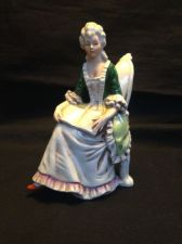 Buy Antique porcelain Germany. Lady on chair