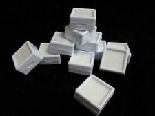 Buy 20 pcs Gem Tool Display Boxes Square White Boxes With Lids Top Glass 3x3x1.5 cm
