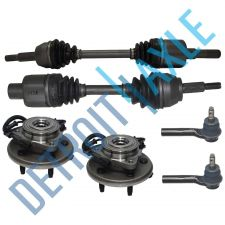 Buy 2 Front Wheel Hub Bearing + 2 Front Driver/Passenger Side Axle + 2 Outer Tie Rod