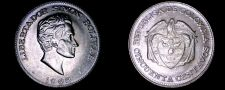 Buy 1963 Colombian 50 Centavo World Coin - Colombia