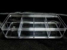 Buy Crystal Clear Transparent Plastic Display Box Jewelry Box 8 Slot Beads Organizer