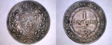 Buy 1826-L Italian States Sardinia 1 Centesimo World Coin