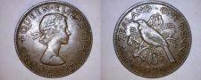 Buy 1958 New Zealand 1 Penny World Coin - Tui Bird