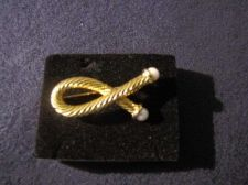 Buy Sarah Coventry Jewelry Pearl Pin w/ Rope Motif (Interlude) #1071