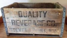 Buy Vintage Quality Beverage Co. Wood Beer Crate With Metal Bands - Stevens Point,WI