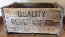 Buy Vintage Quality Beverage Co. Wood Beer Crate With Metal Bands - Stevens Point,WI