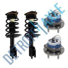 Buy NEW 4 pc Kit - Set of 2 Front Wheel Hub and Bearing Assembly ABS + 2 Ready Strut