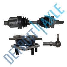 Buy Front Driver CV Axle Shaft w/ ABS + Tie Rod End + Wheel Hub and Bearing Assembly