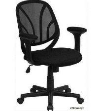 Buy Rolling Desk Chair Black Mesh Computer Task Office Furniture Comfort Armrests