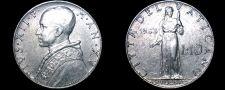 Buy 1953 Vatican City 10 Lire World Coin - Catholic Church Italy