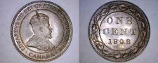 Buy 1908 Canada 1 Large Cent World Coin - Canada