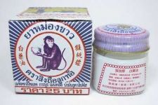 Buy 12 g. WHITE MONKEY HOLDING PEACH BALM JAR Ointment Herbal Medicine Pain Relief