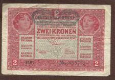 Buy Austria Hungary 2 KRONEN KORONA 1917 BANKNOTE 953732
