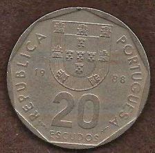 Buy Portugal 20 Escudos 1986 Coin