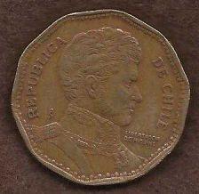 Buy Chile 50 Pesos 1982 Coin - Aluminum - Bronze Gen Bernardo O'Higgins bust