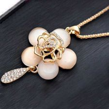 Buy Flower pendant gold plated necklace