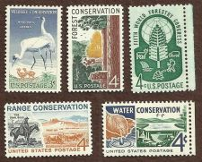 Buy US Stamps Conservation Theme 1948 to 1961 Lot of 5 Mint Stamps