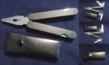 Buy Black Leatherman Style Multi-Tool Style Pliers with Case - 11 tools in one!