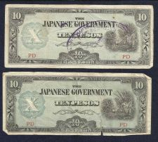 Buy Invasion Currency - Japan 10 Pesos - Two Phillipine Invasion Note PD Series