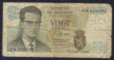 Buy Belgium 20 Francs 1964 P-138 Banknote 2 Q 4126891