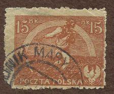 Buy Poland Stamp 1921 Scott 155 A27 Orange 15 Definitive stamp