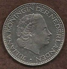 Buy NETHERLANDS 1 Gulden 1968 Coin - Pre-Euro Nickel Coin - Queen Juliana