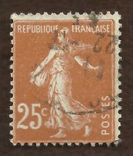Buy FRANCE; 1907-30s early SOWER issue 25c