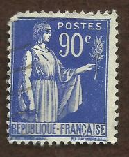 Buy France Peace with Olive Branch, Blue, 90c USED RARE BLUE