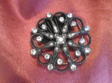 Buy HAIR COMB - Ornate Black with Clear Stones - Versatile Piece
