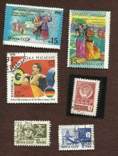 Buy RUSSIA SOVIET UNION STAMP SET 2 lot of 6 USED STAMPs