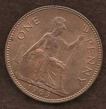 Buy 1963 ENGLAND (GREAT BRITAIN) PENNY 1
