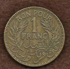 Buy French Africa Tunisia 1 Franc 1941 Coin - Rare WWII Era Currency