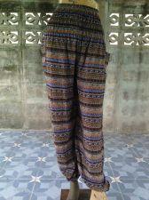 Buy Thai Harem Hippie Pants Colorful Yoga Smocked Vintage Trousers