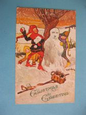 Buy CHRISTMAS GREETINGS CHILDREN SNOWBALL FIGHT 1910 (#280)