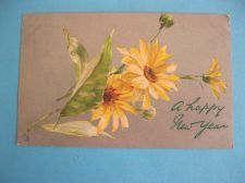 Buy BEAUTIFUL TUCK GREETINGS NEW YEAR 1905 OLD POSTCARD (#279)