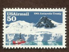Buy Sc # C130 ~ 50 cent Airmail Antarctic Treaty, 30th Anniversary Issue
