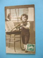 Buy LITTLE BOY WITH HIS VIOLIN OLD POSTCARD #271