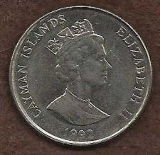 Buy Cayman Islands 25 Cents 1992 Sailing Vessel Coin