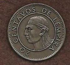 Buy Honduras 20 Centavos 1994 Coin 2, Lempira Brave