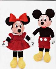 Buy Crochet Mickey and Minnie Mouse PDF Patterns