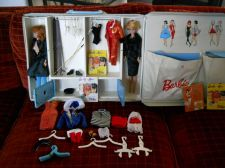 Buy Barbie and Midge case-dolls-clothes-50 items total original 1963 set